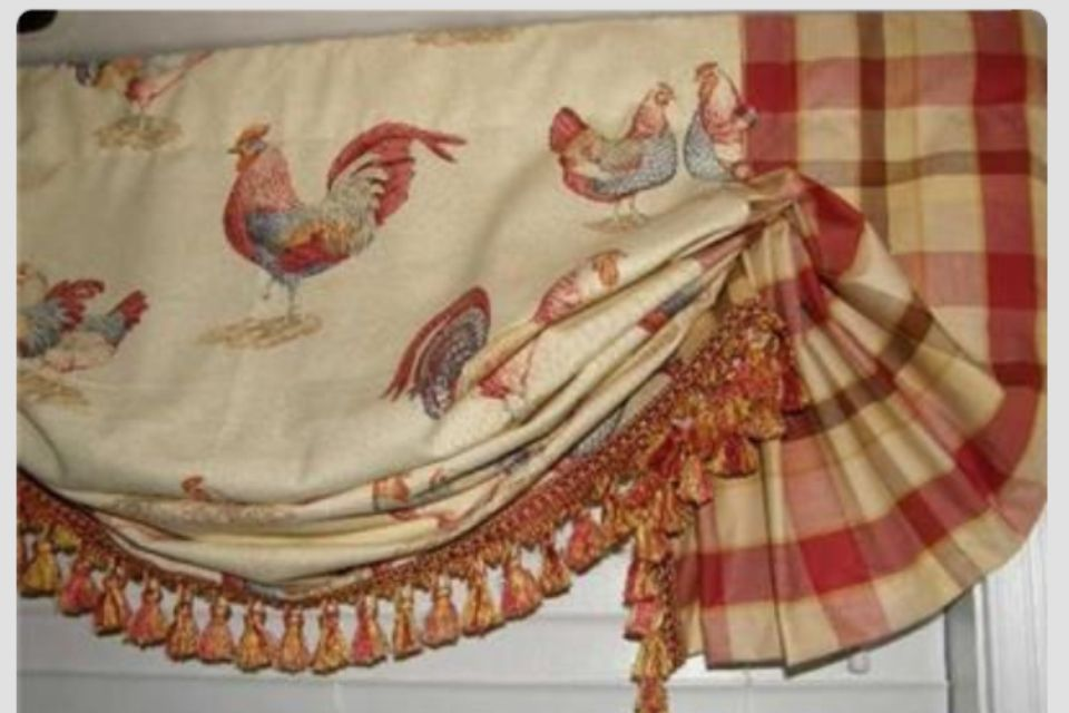 Exotic Creative rooster valances window treatments Liveable Staggering