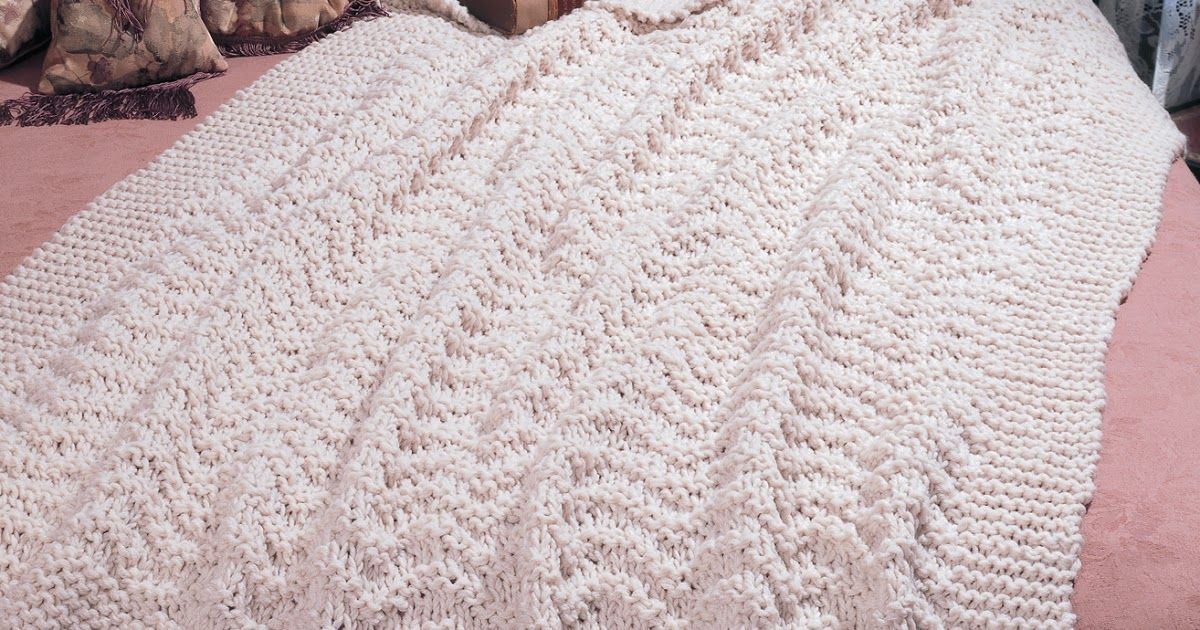 Knit a Blissful Afghan Pattern - Free and Easy pattern | Marvel \' s ...
