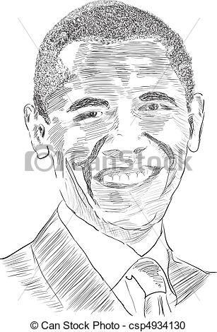 president obama illustration vector obama stock illustration
