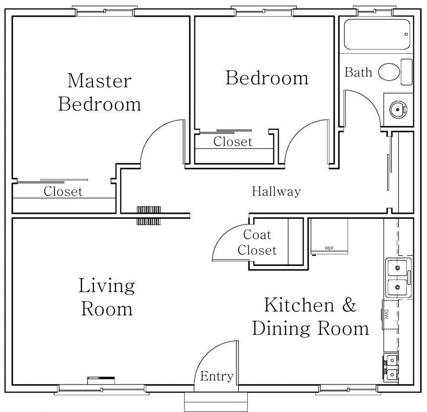 10 Simple Small House Floor Plans For Home Design