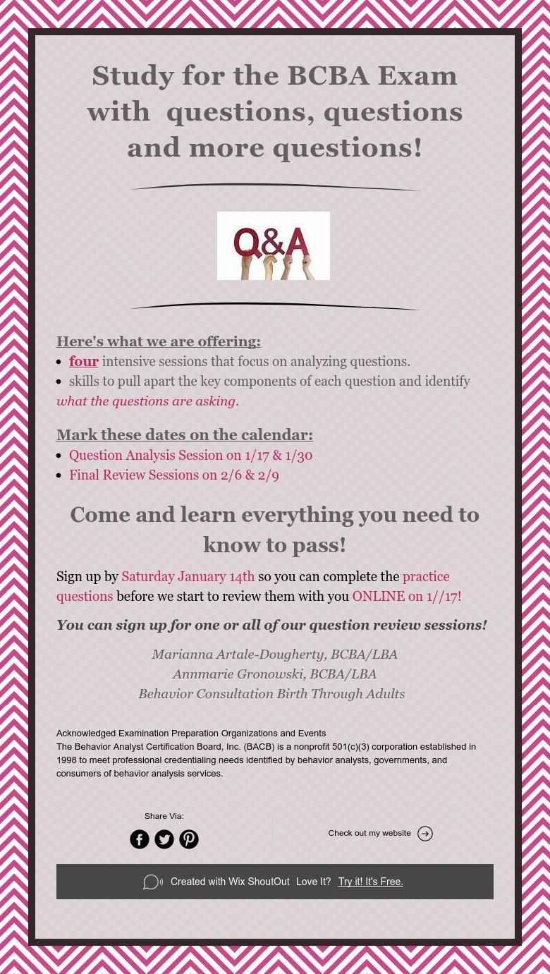 Study For The Bcba Exam With Questions Questions And More Questions