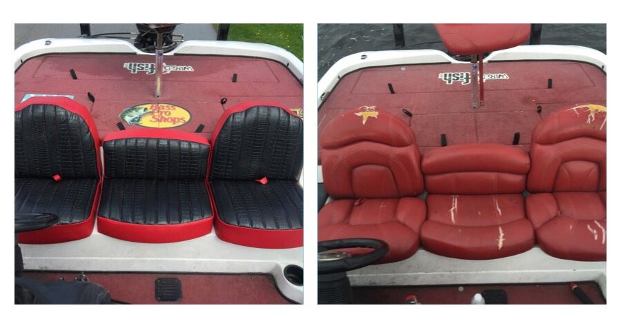 My Nitro Bass Boat Seat Before And After Nitro Boats Bass Boat Seats Bass Boat