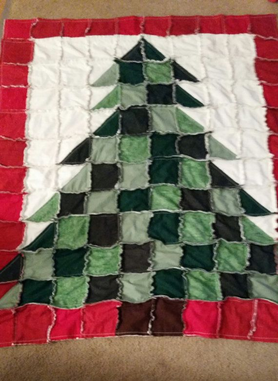 Beautiful Christmas Rag Quilt by kantry2 on Etsy  Check it out!