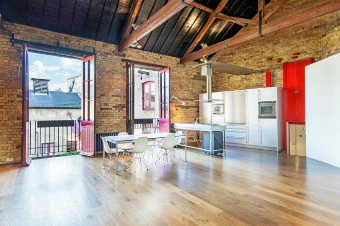 Loft Wohnung Einrichtungsbeispiele Wohnideen Deko Ideen Offener Raum10