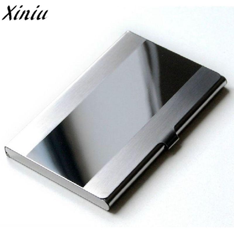 Card Holder Stainless Steel Silver Aluminium Credit Card Case Women ...