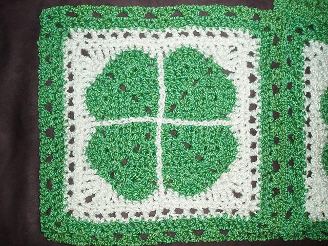 Shamrock Square #stpatrick   afghans   Pinterest   Patrón de ...