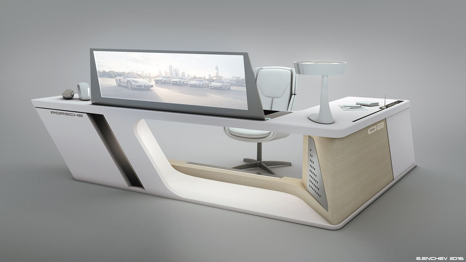 I  decided to create another version of the Porsche desk...this one is bigger and with more storage