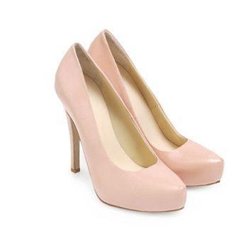0584da7330eb8 zapatos tacón rosa Benetton