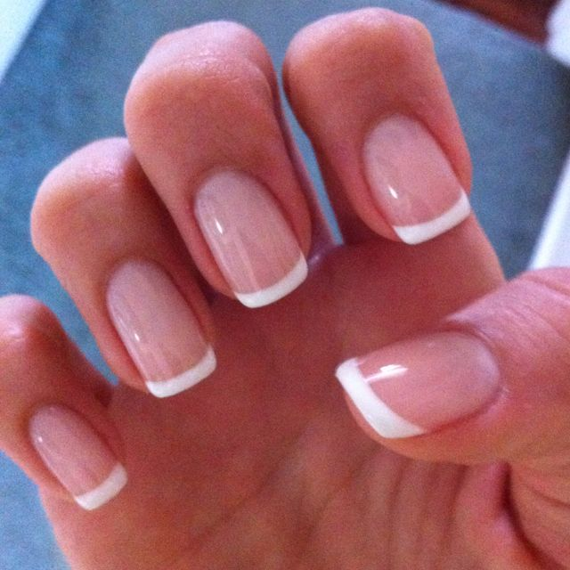 Ecbasket Acrylic Nail Tips Natural Fake Nails Short Oval: Best 25+ French Manicure Gel Ideas On Pinterest