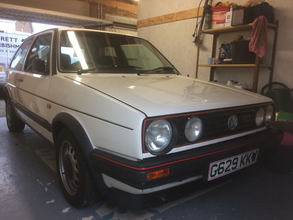 Ad Vw Golf Gti Mk2 1989 Alpine White Vw Golf Golf Gti Gti