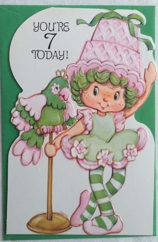 Strawberry Shortcake Greeting Cards - Birthday - Numbered @ Toy-Addict.com