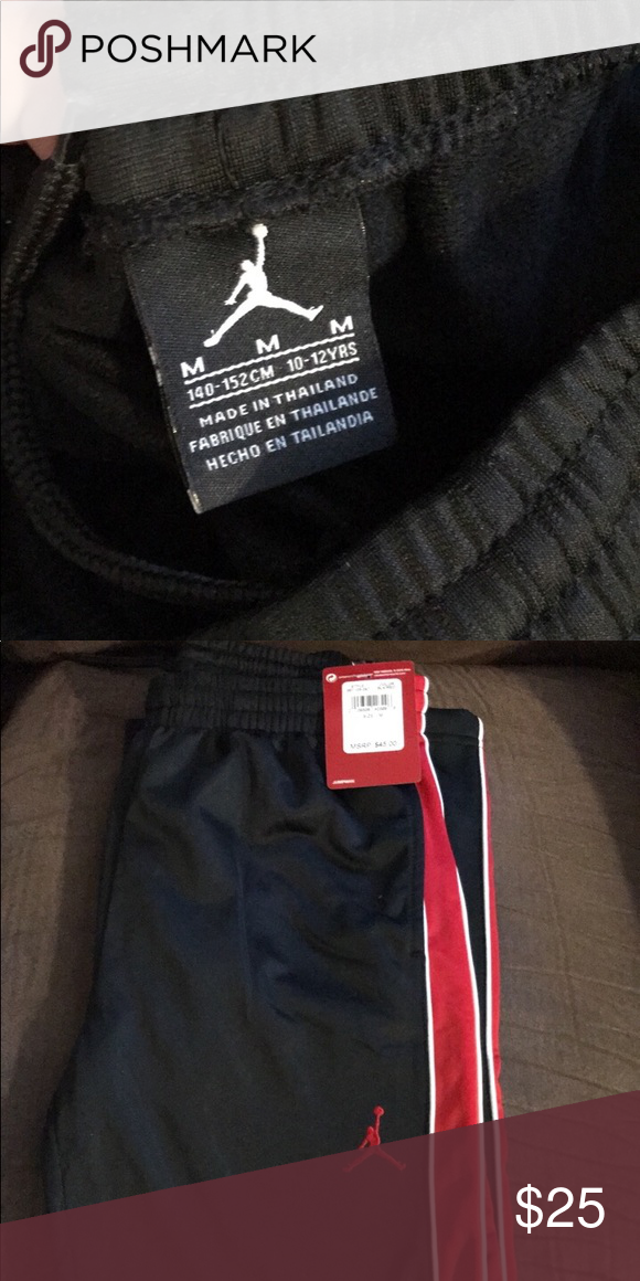 60b649ebc7a6c5 New with tags - Boys Size Medium sweats Never worn Jordan Bottoms Sweatpants    Joggers