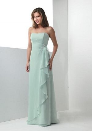 A-line Strapless Floor-length in Chiffon Mother of the Bride Dresses