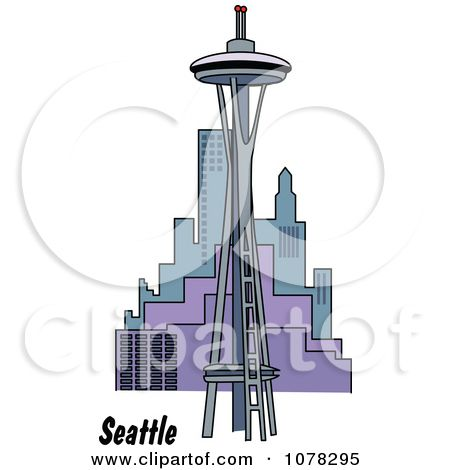 city in space clip art clipart the space needle and seattle