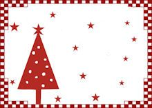 Marque place noel nouvel an bordure rouge sapin toiles for Porte nom noel a imprimer