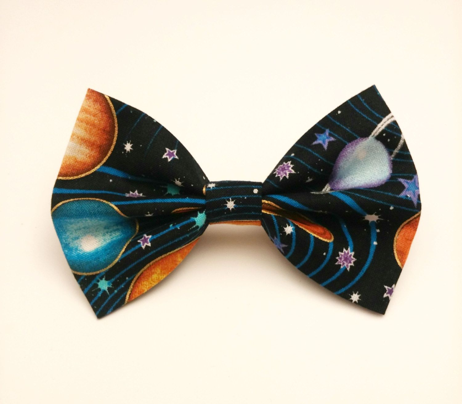 Planets Bow Tie/Star Bow Tie/Science Bow Tie/teacher gift/ Outer Space Bow Tie/Galaxy Bow Tie/Teacher Tie/Black Dog Bow Tie/men's. bow tie CscYNva3W