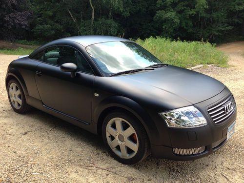 matte black audi tt   2000 Audi Tt Base Coupe 2-door 1.8l No Reserve