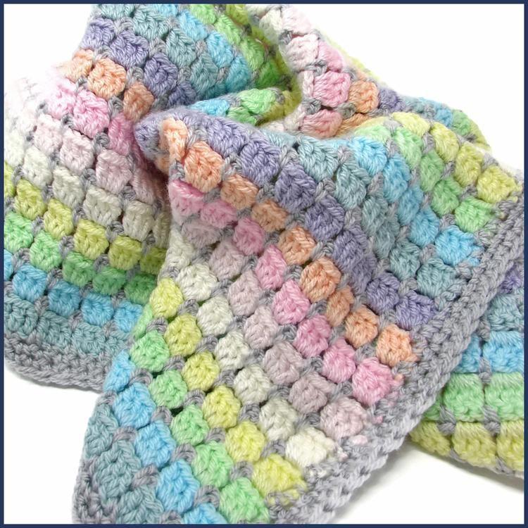 Vintage Rainbow Crochet Baby Blanket Kit In 2020 Rainbow Crochet Blanket Pattern Crochet For Beginners Blanket Baby Blanket Crochet
