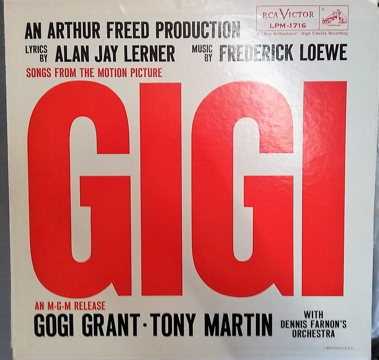 Gigi Songs From The Motion Picture Vintage Record Album Songs Motion Picture Record Album