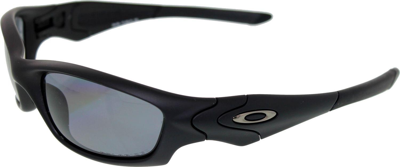 3b748c21a5 Oakley Mens Polarized Straight Jacket 24-124 Black Wrap Sunglasses ...