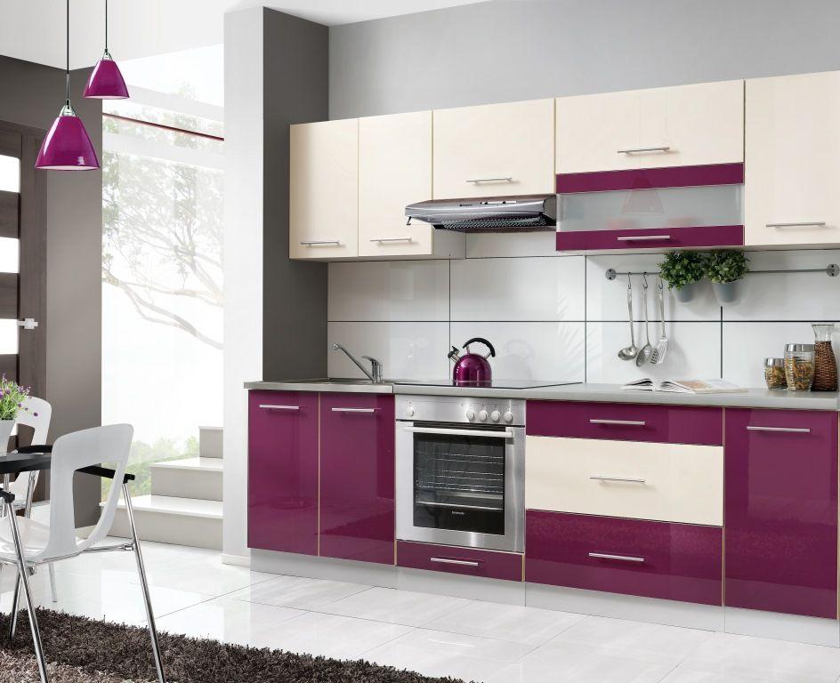Meble kuchenne kuchnia DIANA 260cm WYSOKI POŁYSK (5306062553 - küchenblock 260 cm