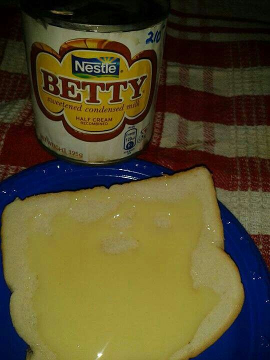 Hard Dough Bread And Condensed Milk An Easy Sweet Snack Enjoyed By Many Jamaicans Sweet Snacks Easy Island Food Jamaican Recipes