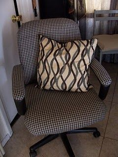 Recover An Office Chair Can Put Batting On Seat And Back