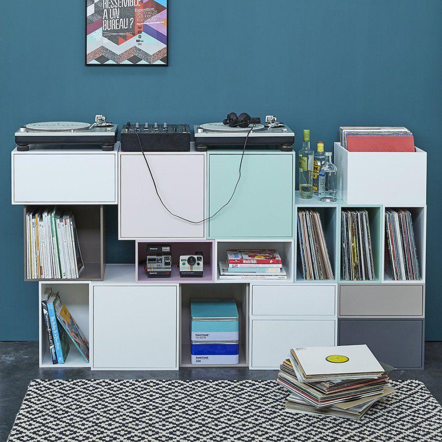 Un Meuble Hifi Avec Rangement Cubit Marie Claire Maison  # Idee Meuble Hifi Et Bibliotheque