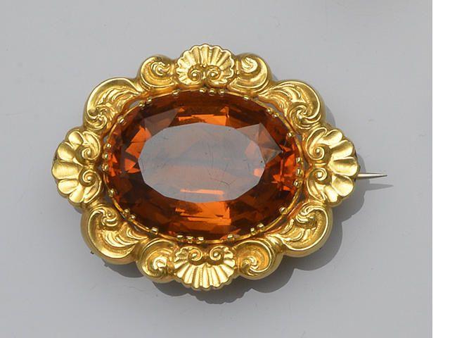A citrine brooch