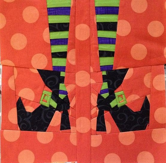 Witchy Feet - paper-pieced. | Things that inspire creativity ...