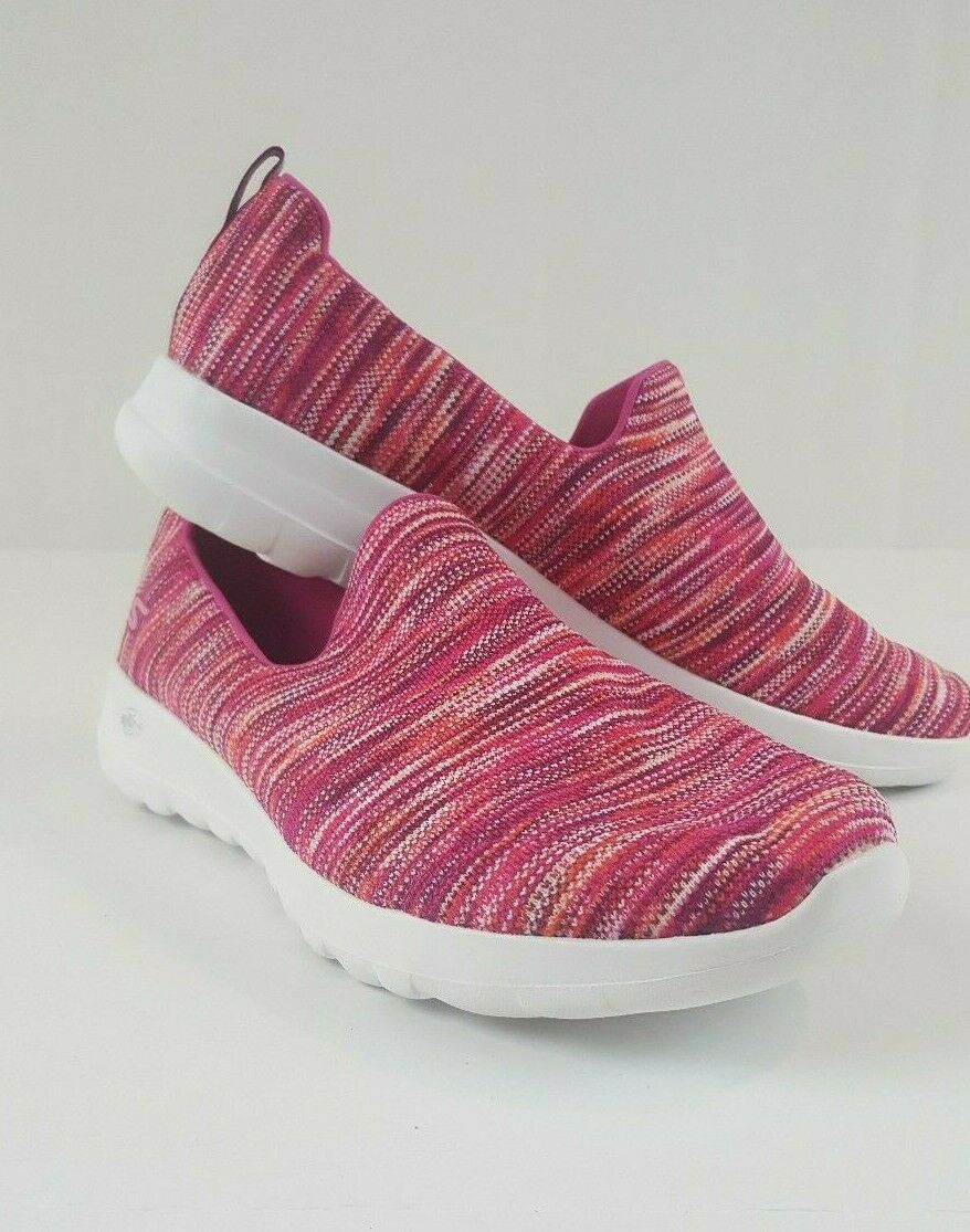 Sketchers Goga Max Womens Size 13 Canvas Slip On Pink Sketcher