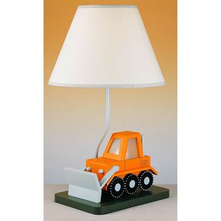 Cal Lighting Kids Bulldozer Table Lamp (Kids Bulldozer Table Lamp), Orange