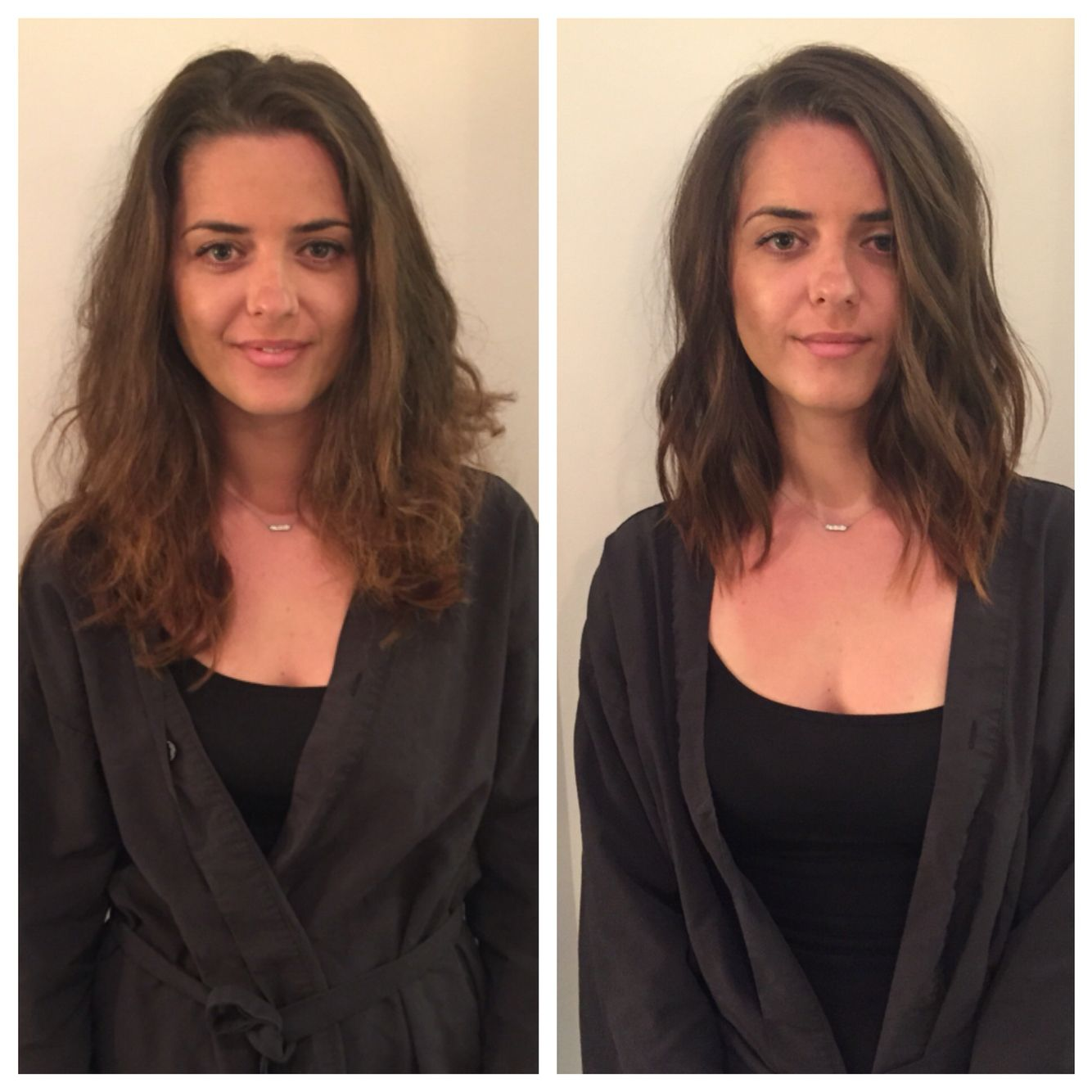 lob haircut before and after pin on hair