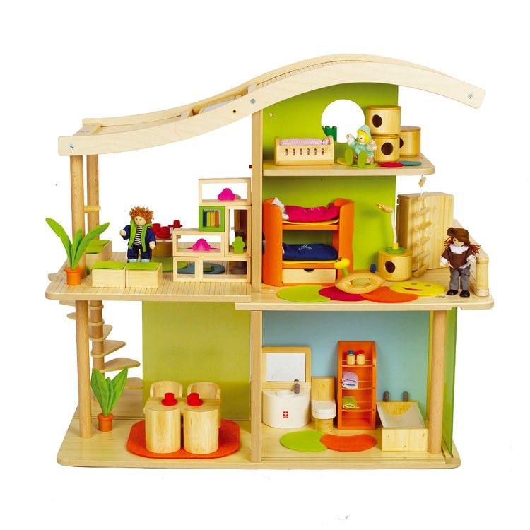 Bamboo doll house with Solar POWERRRRR