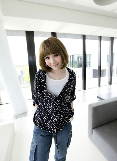 Adjustable Sleeves Dotted Loose Blouse - BuyTrends.com