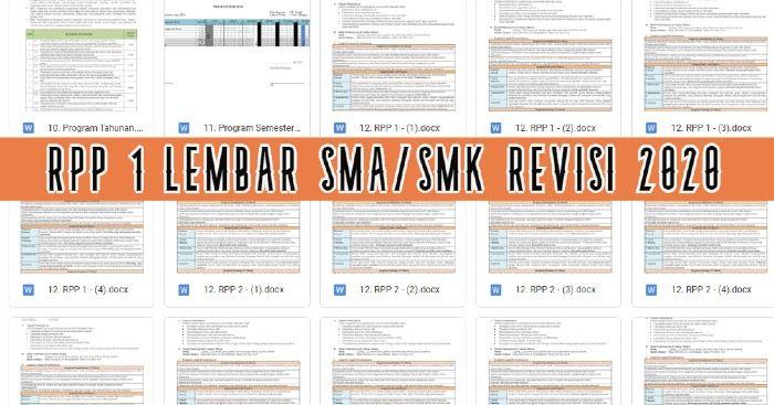 Download Contoh Rpp 1 Lembar Sma Smk Kelas 10 11 12 Revisi 2020 Fisika Kurikulum Sma