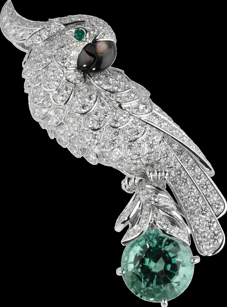 4ea923f593a3 Cartier High Jewelry Fauna and Flora broochPlatinum