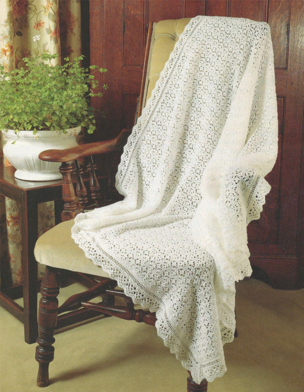 Baby Shawl PDF Knitting Pattern : Newborn / Premature Babies ...