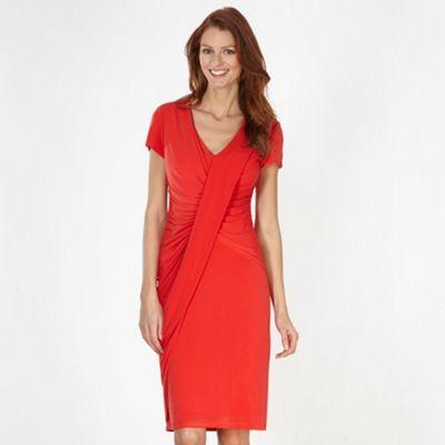 Betty Jackson Black Designer Red Drape Front Jersey Dress At Debenhams Ie
