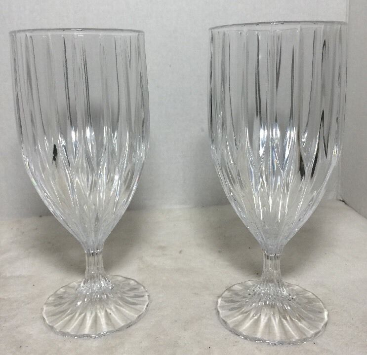 e89d439a84b Mikasa Park Lane Crystal Water Glasses Iced Tea Goblets 7 1 4