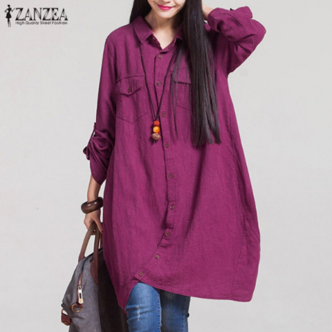 Women Fashion Blouse    This women fashion blouse is made of cotton and viscose. Its pattern type is solid and the fabric type is broadcloth.    Note: Please allow 2 to 4 weeks for delivery.