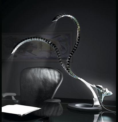 Rattlesnake lamp,designed by Ettore Cimini