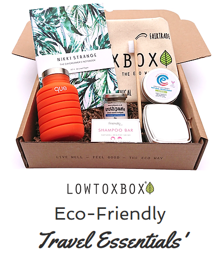 Lowtoxbox Eco Friendly Travel Essentials Kit Perfect For