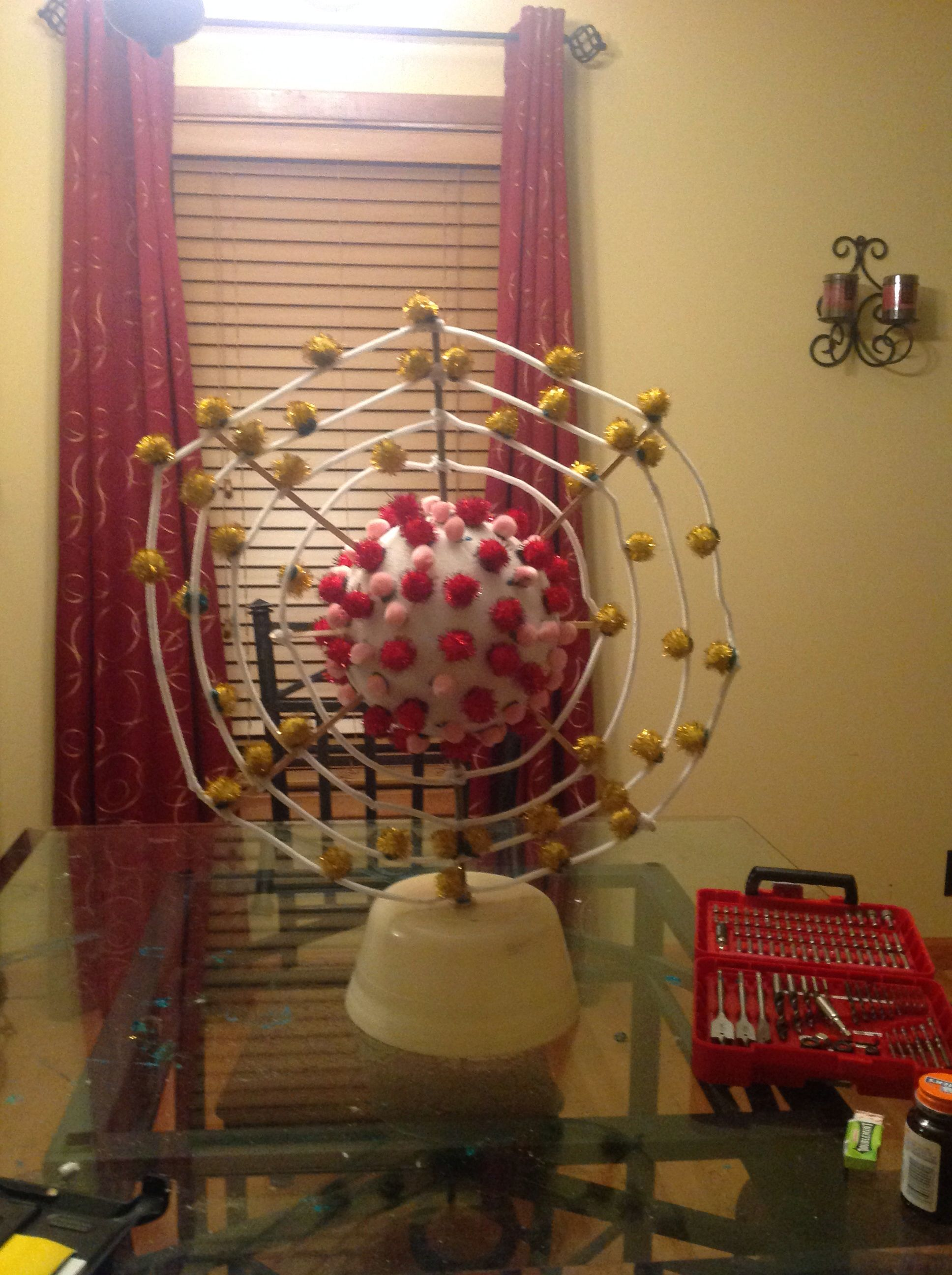 hight resolution of atom model project