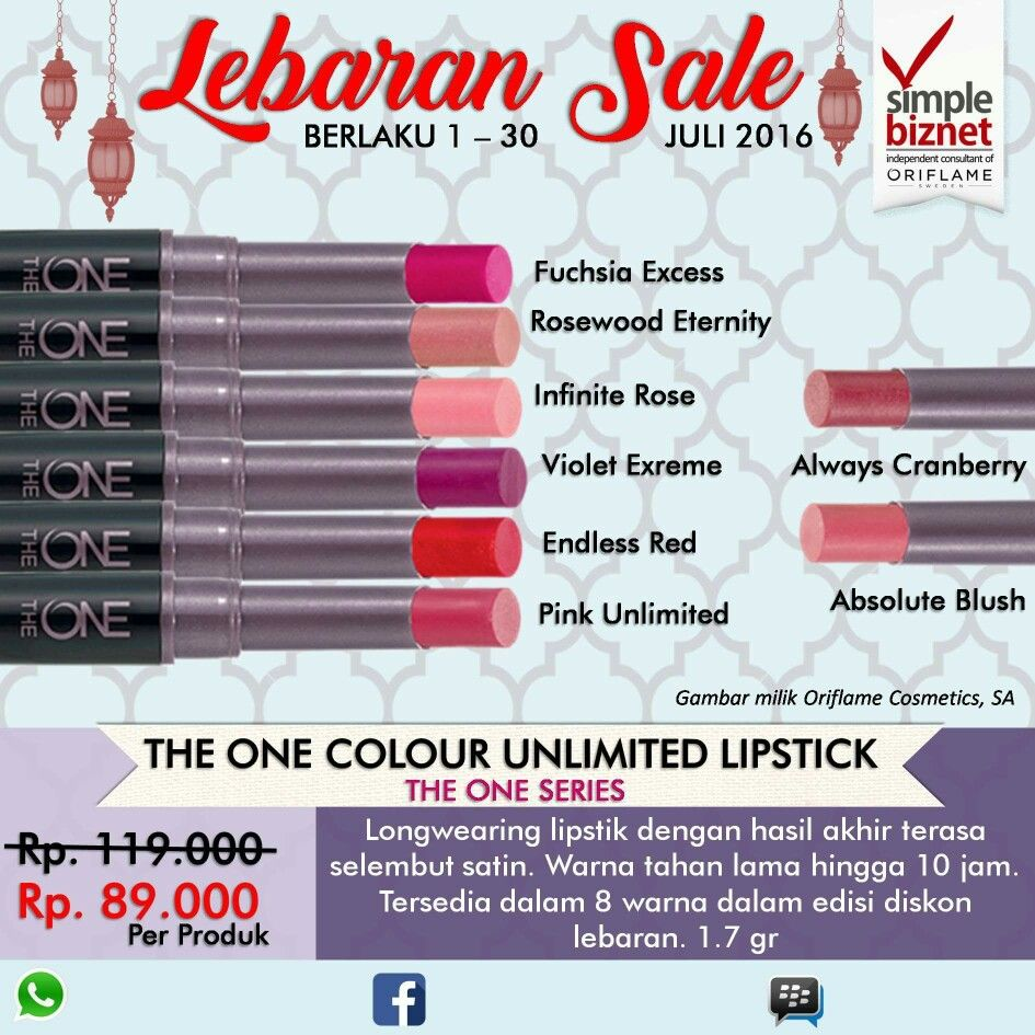 The One Colour Unlimited Lipstick Oriflame Sale July 2016 Pinterest Tenderly Miss Giordani Vivacity Perfumed Body Lotion