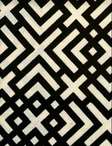 geometric black and white pattern from russell busch set luli sanchez illustrative. Black Bedroom Furniture Sets. Home Design Ideas