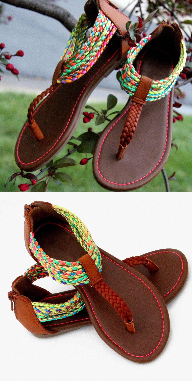 86ba5946209769 Multi Color Queen Ankle Zip Sandal for Girls