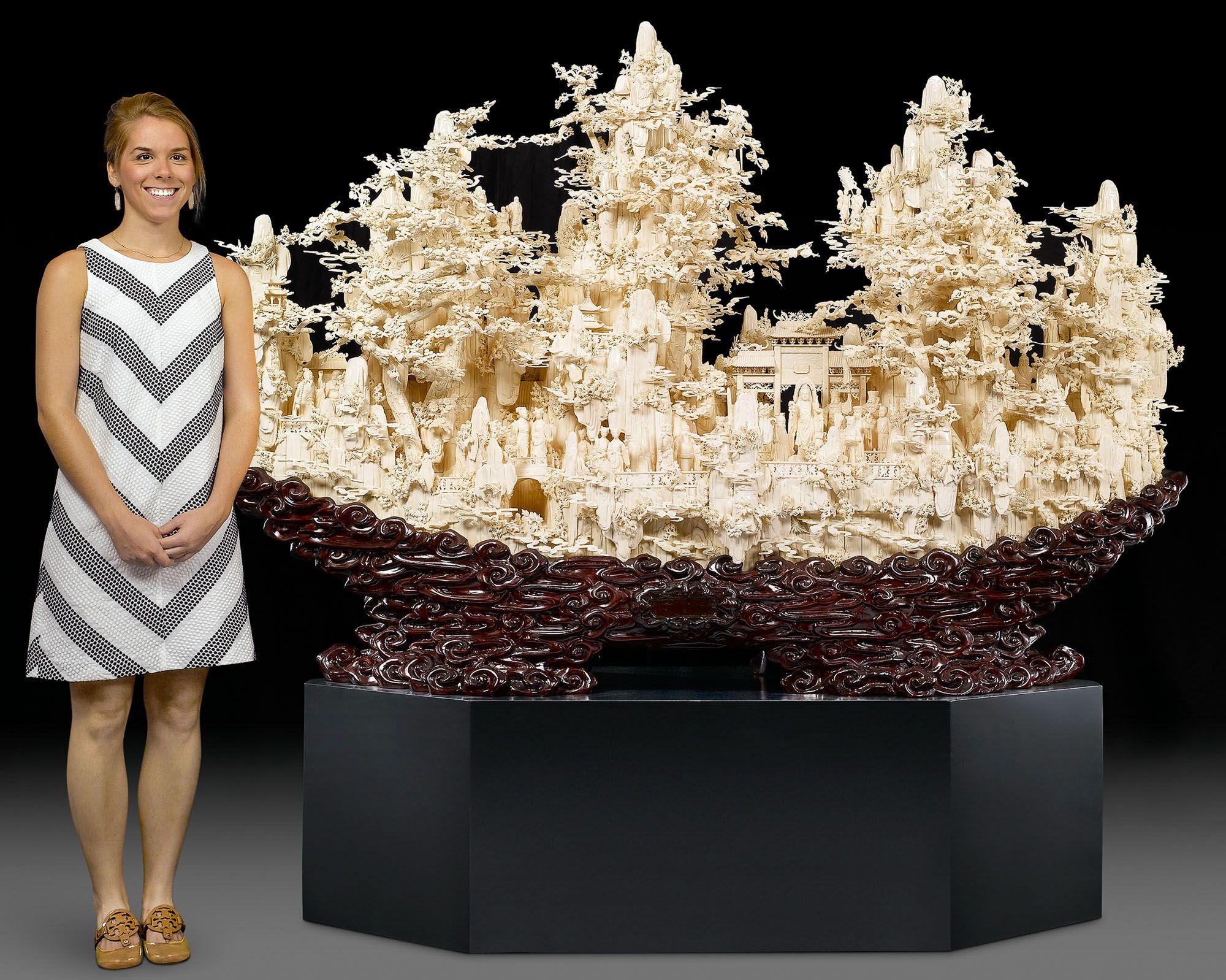 Asian Art Chinese Carved Bone Mountain Sculpture Arte De Talla De Madera Expresiones Del Arte Arte Chino