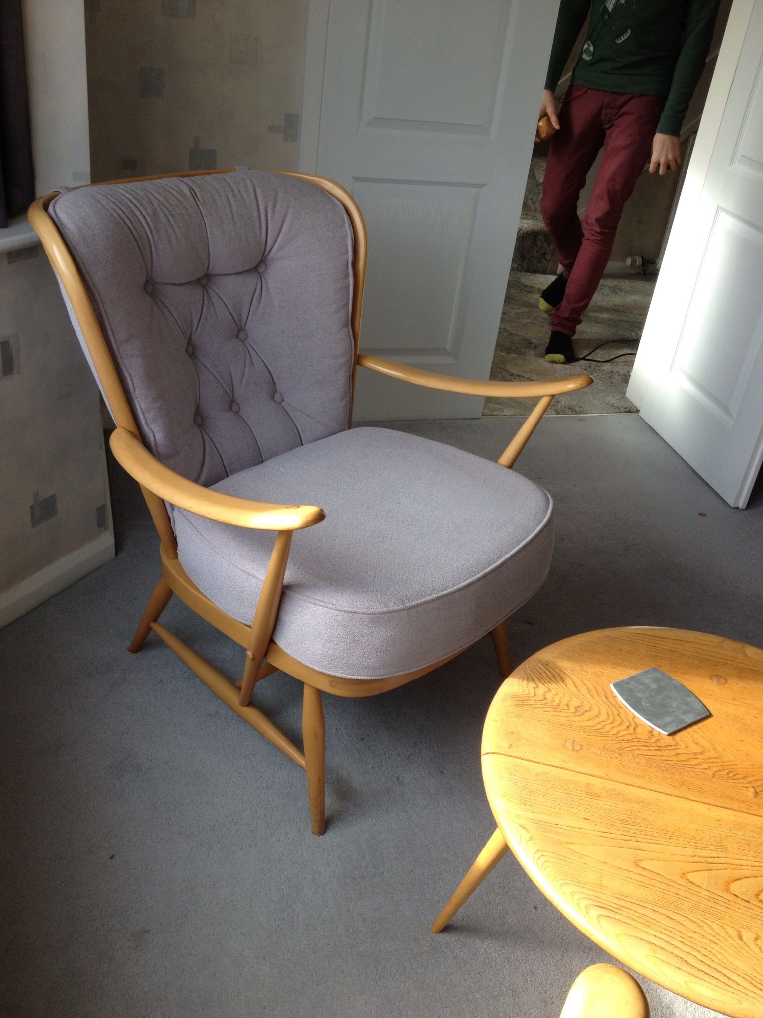 Ercol chairs and coffee table for sale. 4 chairs like this