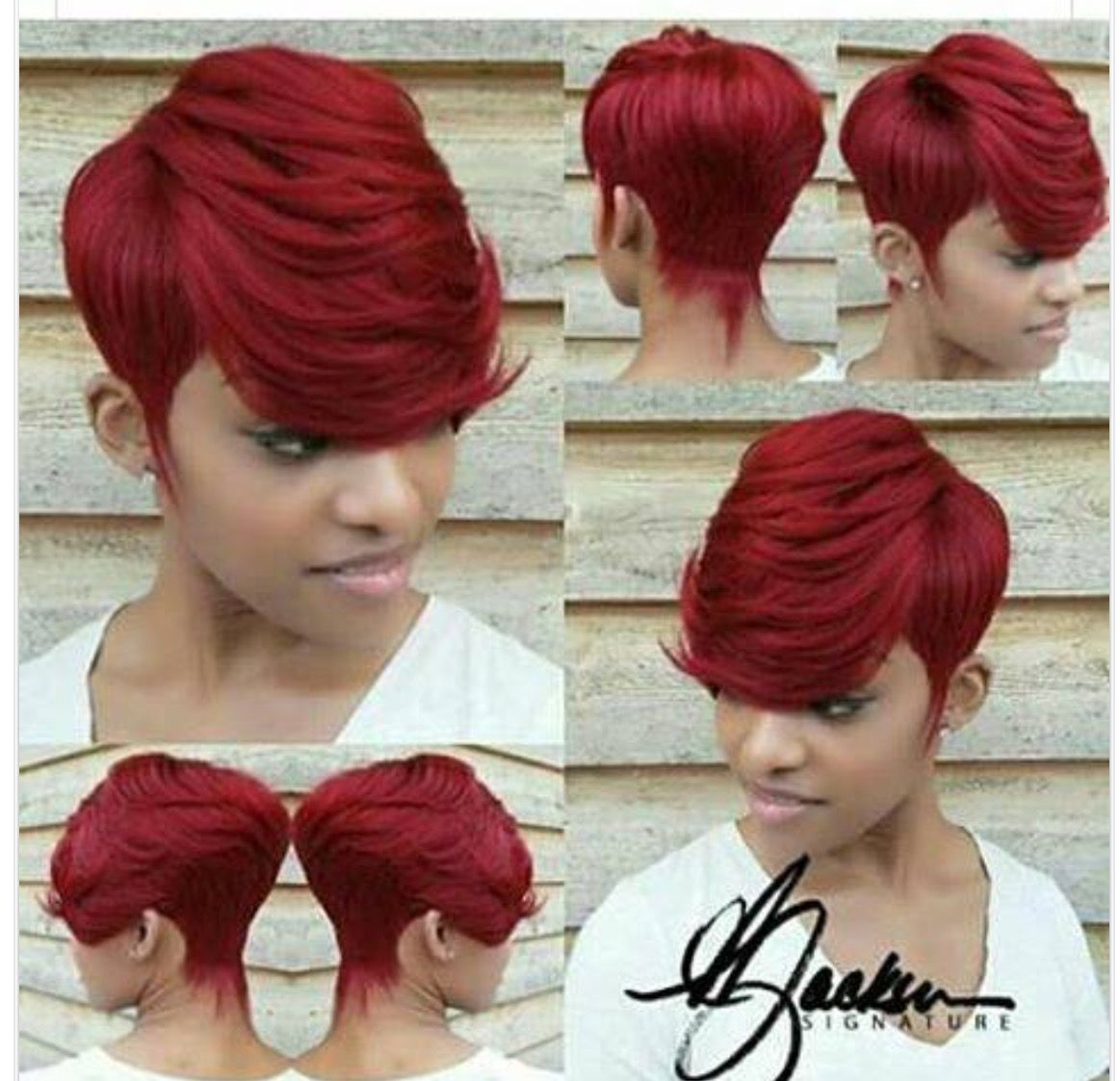 Son graduated  Quick weave hairstyles, Short red hair, Sassy hair